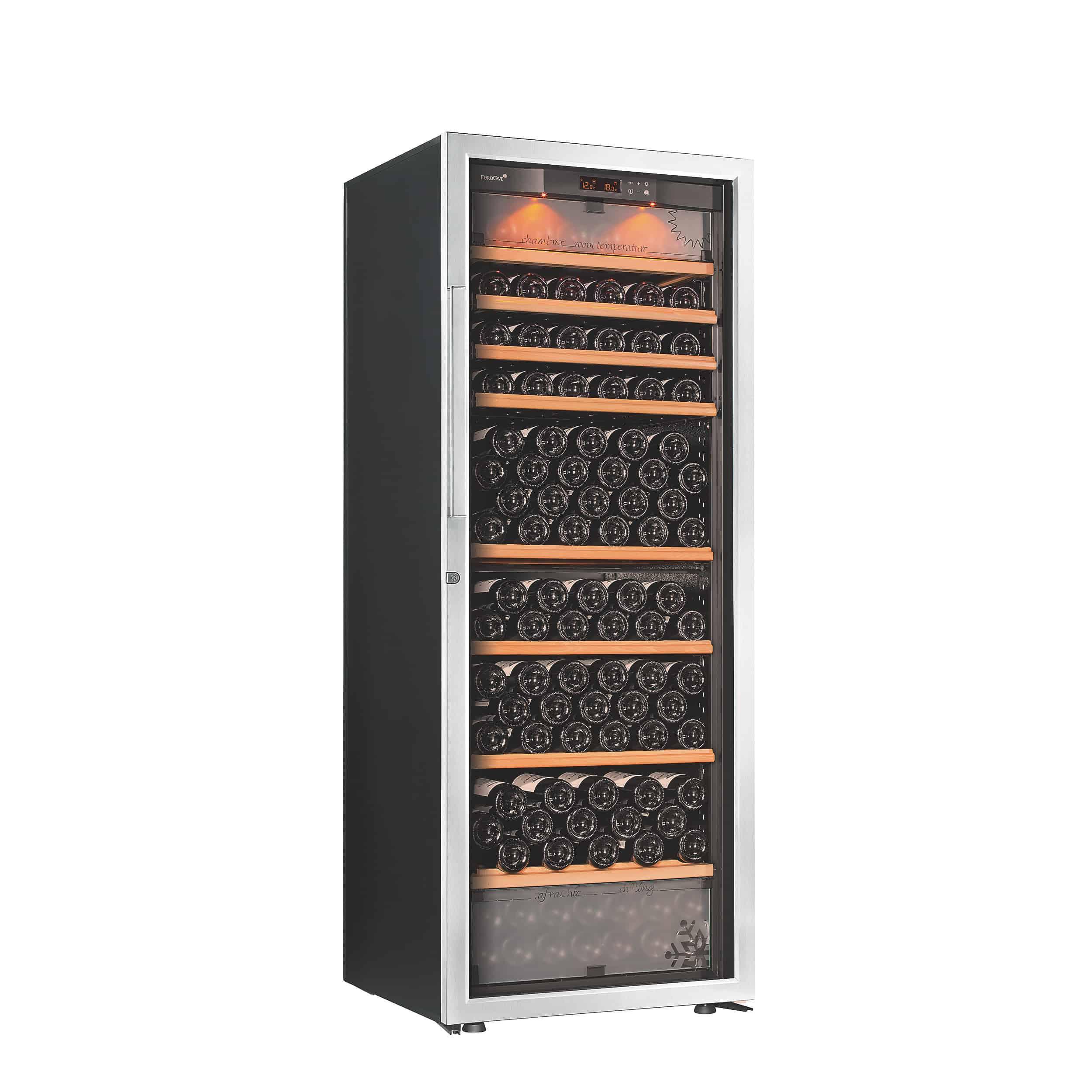מקרר יין גדול לאחסון מעל 200 בקבוקים