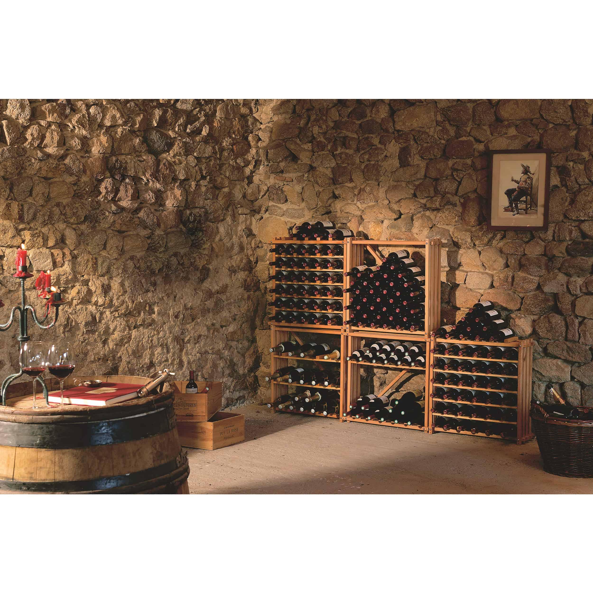 יחידות מידוף למרתף יין