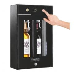 WINEBAR 2.0 - בר משקאות קטן לאחסון 2 בקבוקי יין פתוחים