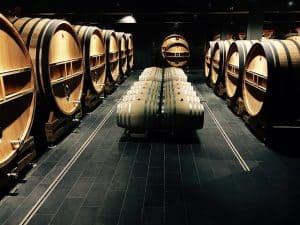 יישון יין בחביות עץ